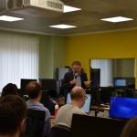 Lirio Abbate durante la sua lezione agli studenti del Master in Giornalismo dell'Università Lumsa