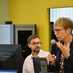 Milena Gabanelli durante la sua lezione agli studenti del Master in Giornalismo