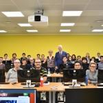 Milena Gabanelli e il direttore Carlo Chianura con gli studenti del Master in Giornalismo