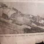 Che Guevara disteso nella lavanderia, morto. (Foto: Última Hora, 11/10/67).
