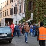 Una delle scene dalla protesta dei lavoratori