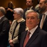 Il presidente del Senato Pietro Grasso nell'aula magna della Lumsa