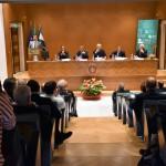 Il Rettore della Lumsa Francesco Bonini rivolge il saluto prima della tavola rotonda
