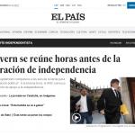 El Pais, gli esponenti del governo catalano si riuniscono prima della probabile dichiarazione unilaterale di indipendenza
