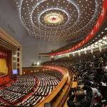 Una veduta panoramica della Great Hall of the People a Pechino, sede del Congresso