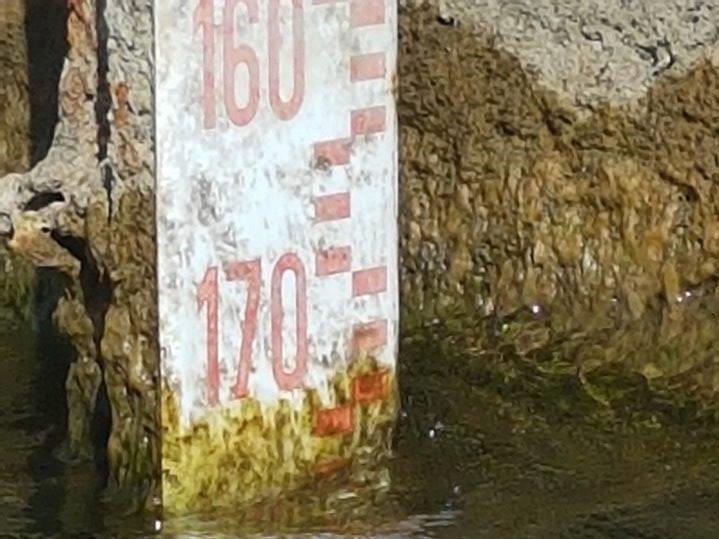 L'11 agosto il livello è a -172 centimetri