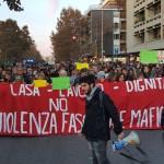 Ostia, manifestazione di sabato 11 novembre contro le mafie e il fascismo, in solidarietà con il giornalista Rai Daniele Piervincenzi, aggredito da Roberto Spada