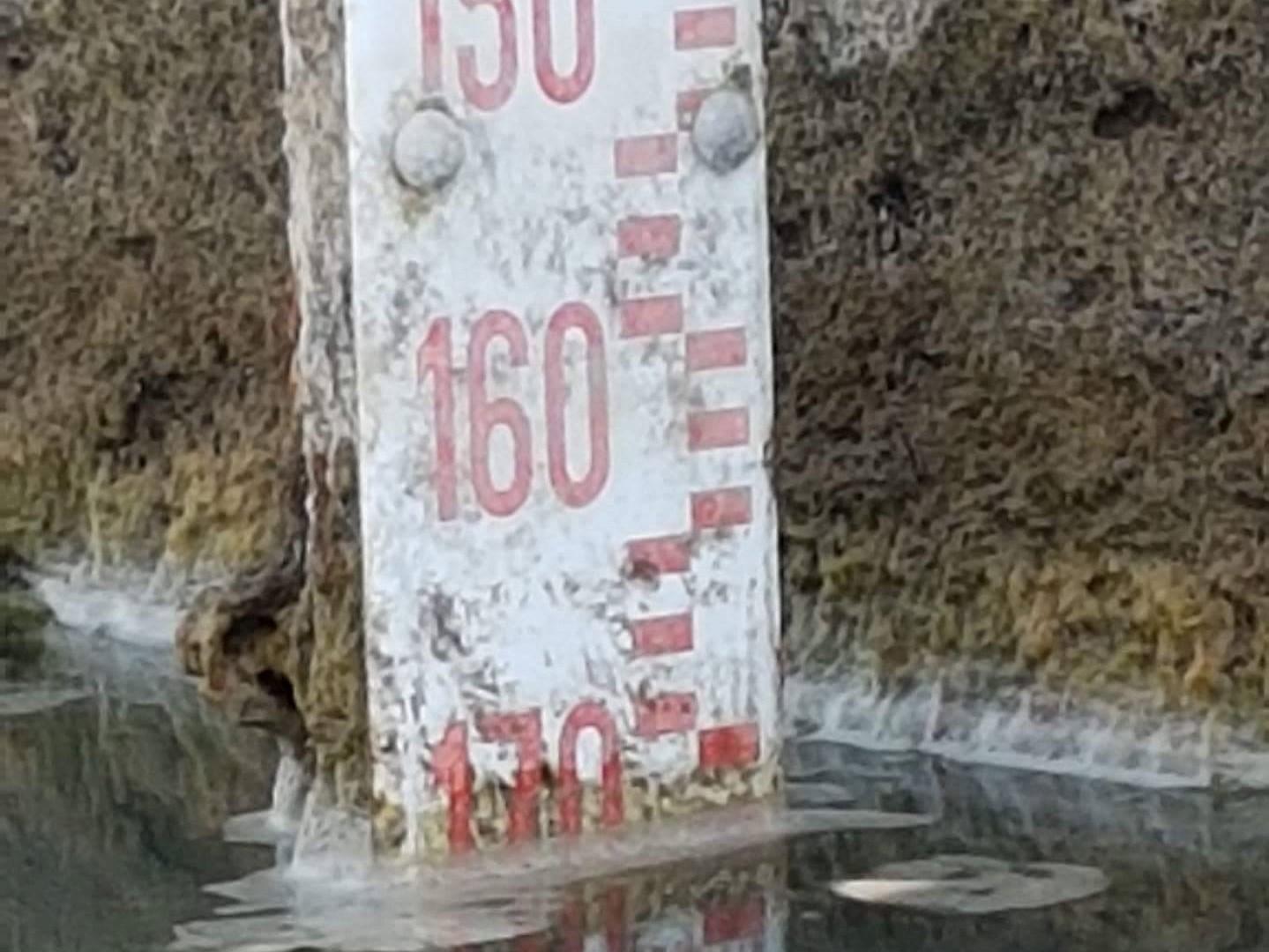 Dalle misurazioni del 4 agosto il Lago risulta più o meno uguale. Il livello è a -169