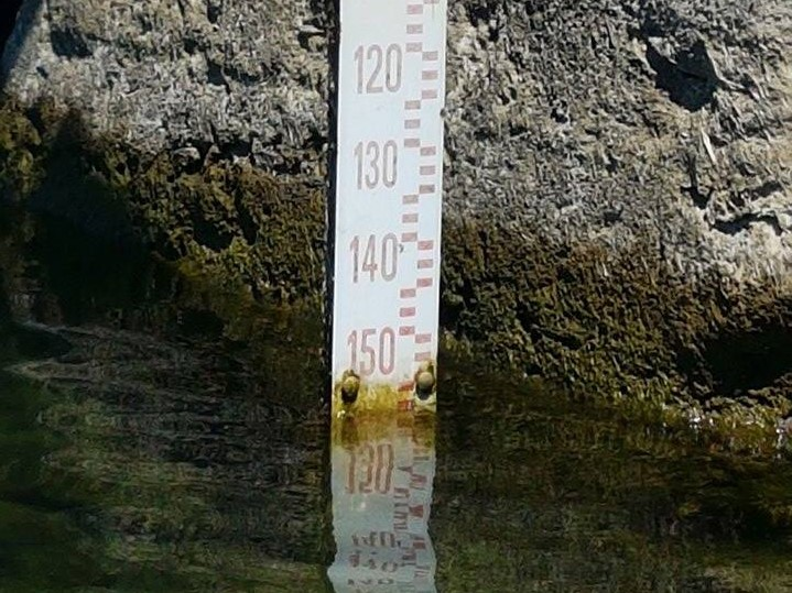 I rilievi del 6 luglio riportano -152 centimetri