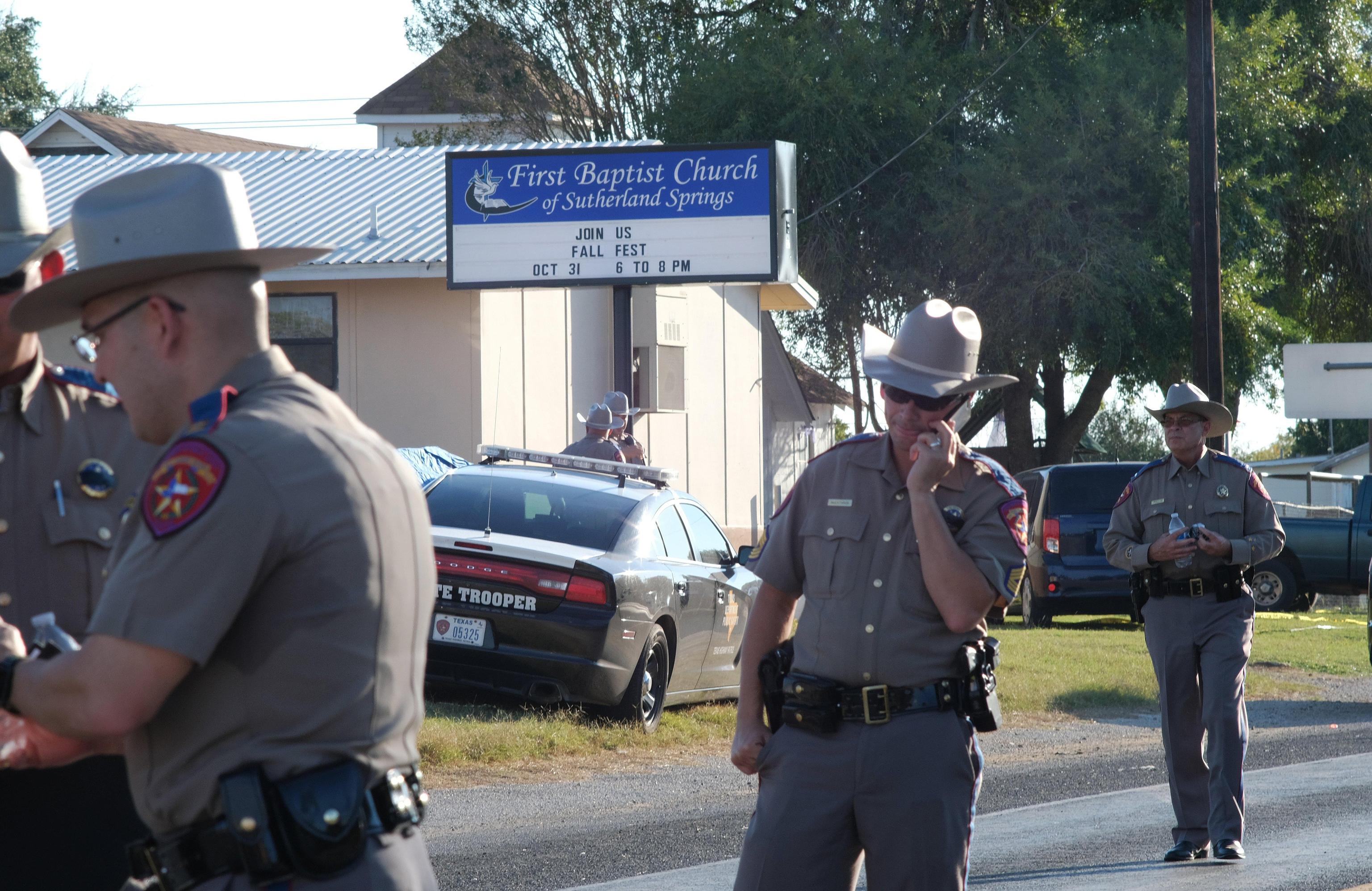 La chiesa battista luogo della sparatoria