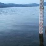 Rilevamento del 10 settembre. Il lago ha preso +5 centimetri per le piogge.