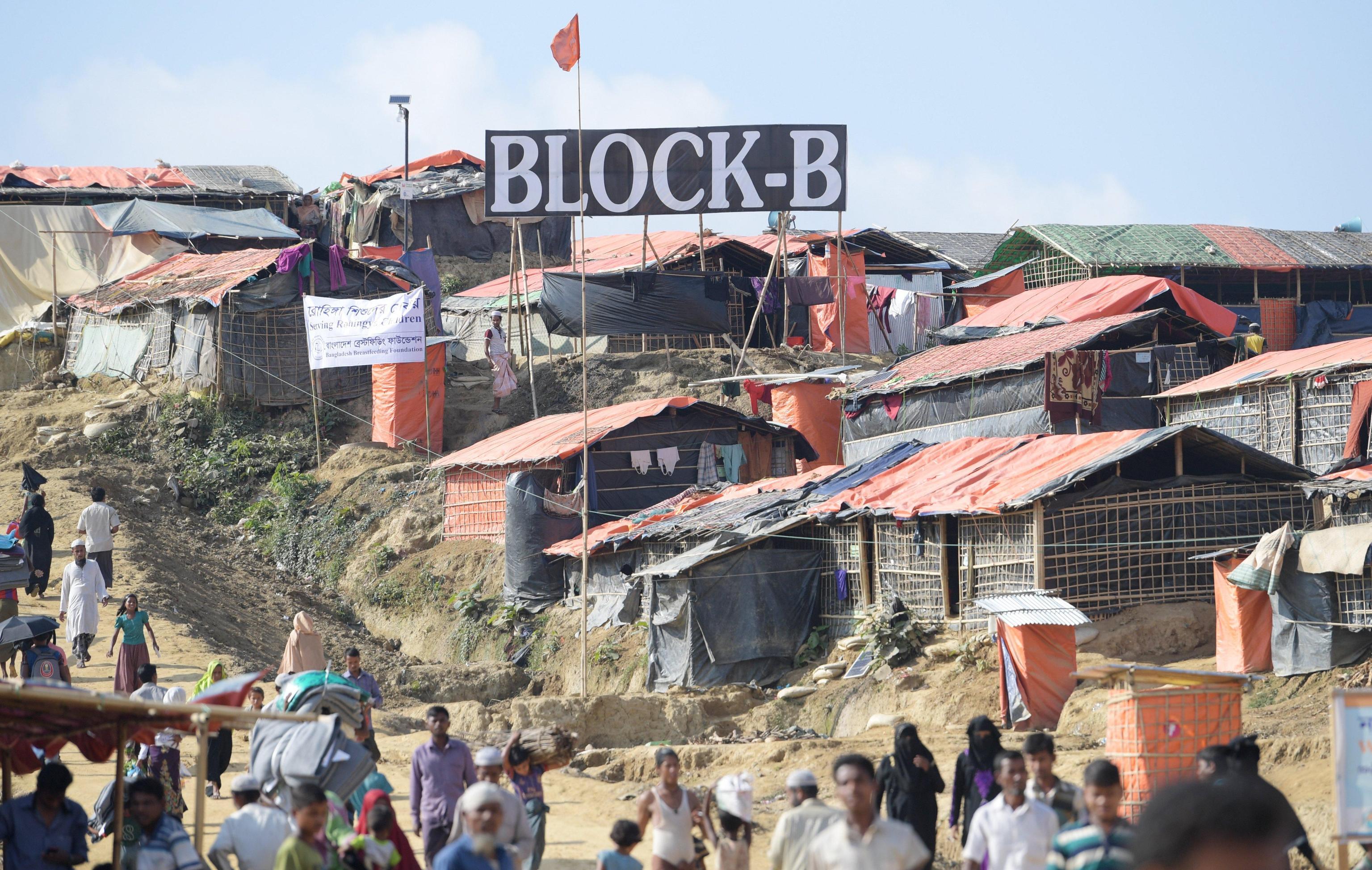 Uno dei settori del campo profughi