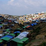 Panoramica di tende e baracche