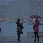Maltempo a Venezia. I turisti incantati