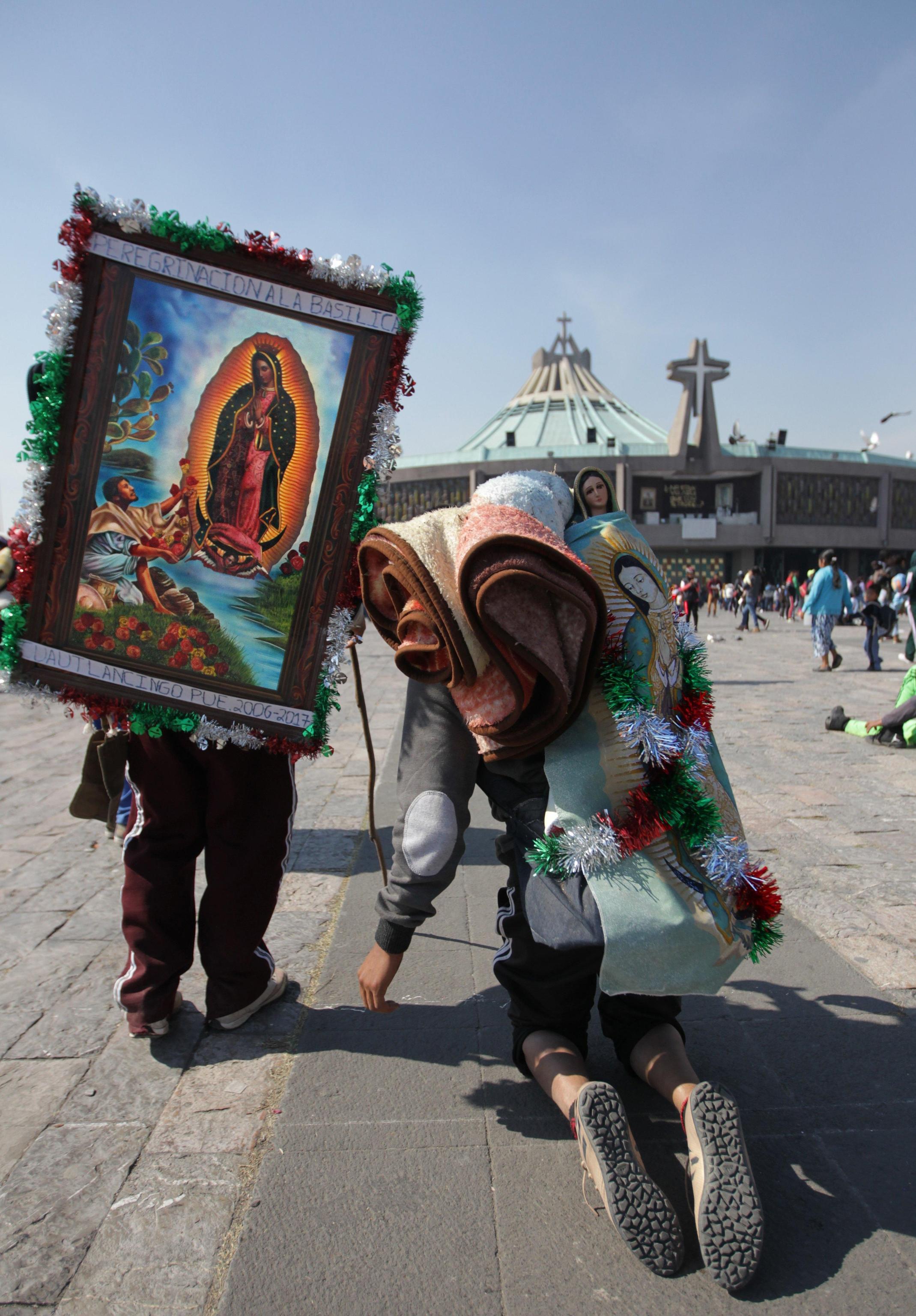 Alcuni pellegrini giunti a Città del Messico