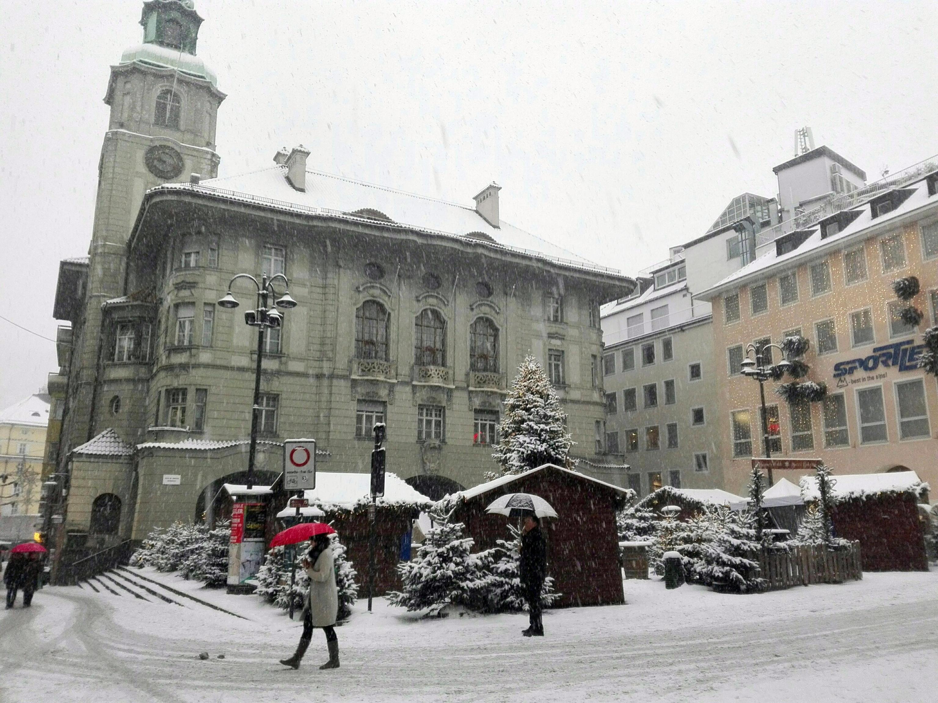 Maltempo: neve in tutto l'Alto Adige, anche a Bolzano