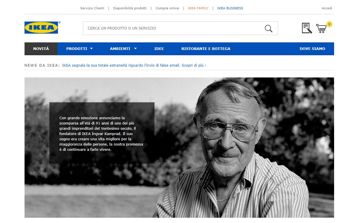 Morto il signor ikea kamprad aveva 91 anni era noto per - Sito ufficiale ikea ...