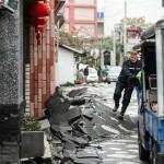 L'asfalto distrutto delle strade di Taiwan