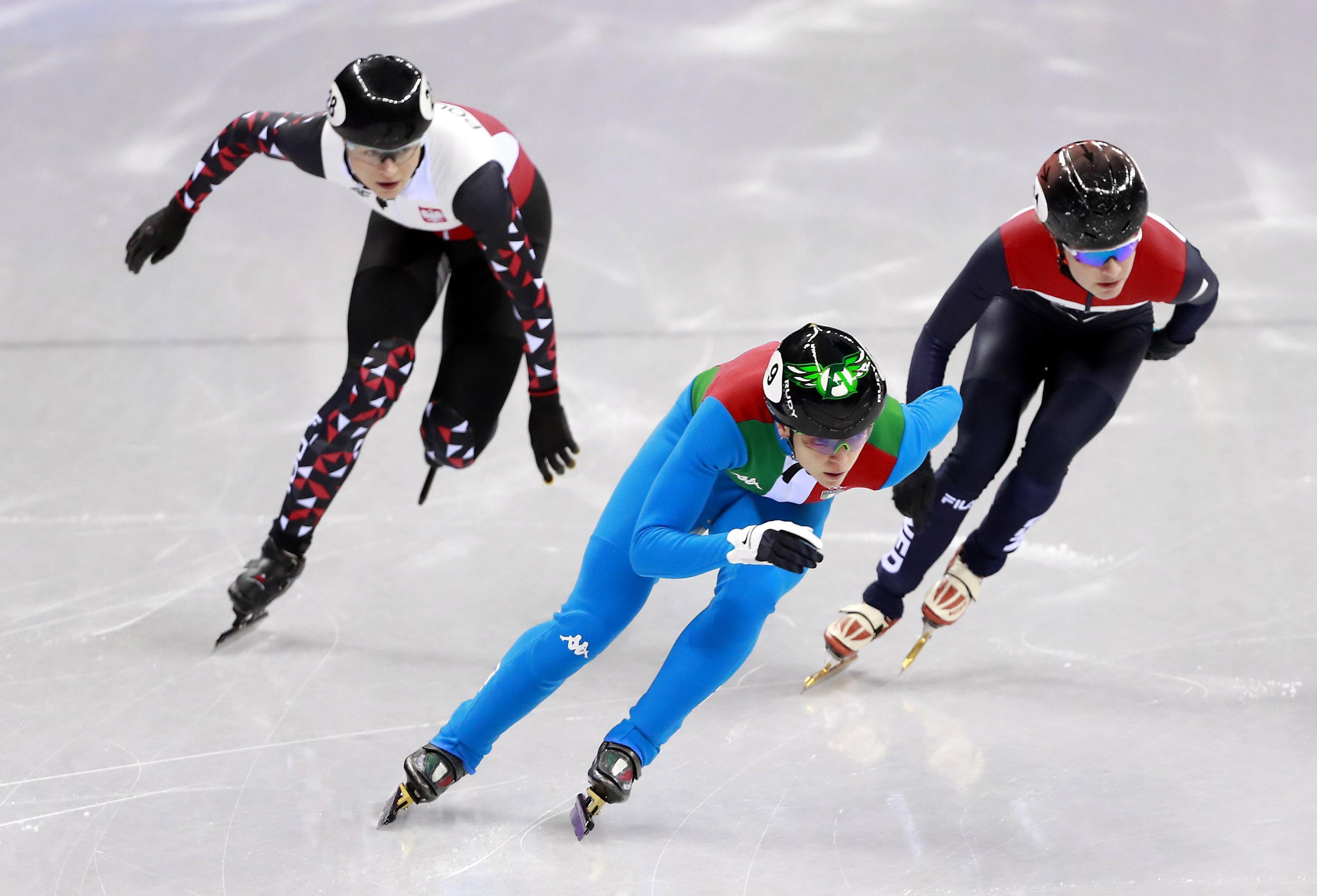 L'azzurra in azione durante i quarti di finale, alle sue spalle la polacca Maliszewska e l'olandese van Kerkhof