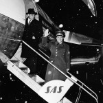 Jurij Gagarin appena atterrato in Svezia