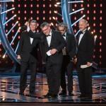 """Richard R. Hoover, Gerd Nefzer, Paul Lambert e John Nelson ritirano l'Oscar per gli effetti speciali in """"Blade Runner 2049"""", che ha vinto anche per la miglior fotografia"""