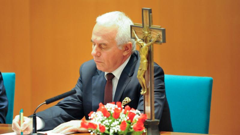 Marco Tarquinio, direttore di Avvenire, durante la tavola rotonda organizzata in occasione dell'inaugurazione delle nuove strutture del Master