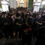 Un momento di preghiera durante le commemorazioni