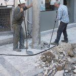 Prime riparazioni dei danni causati dal terremoto in Grecia