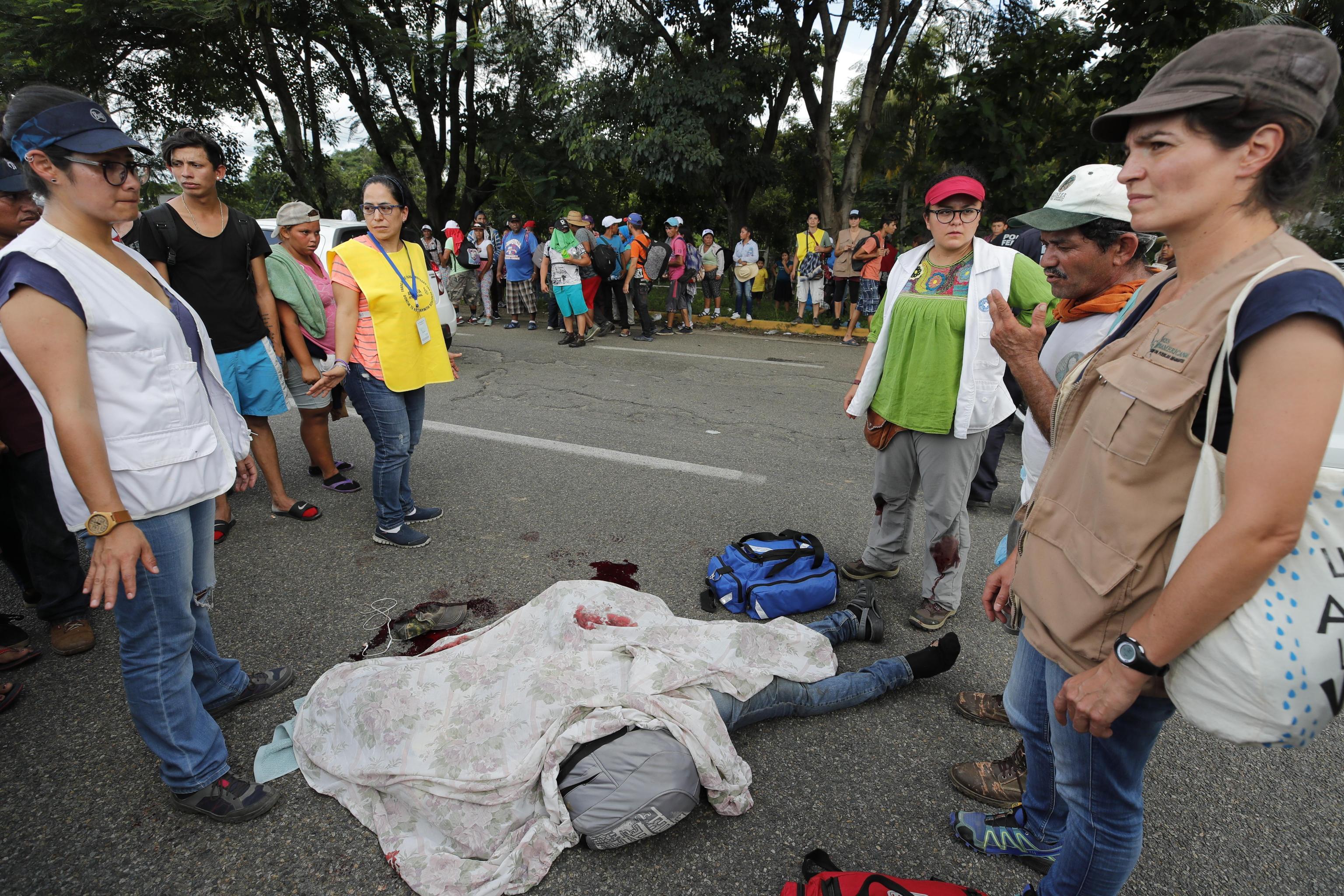 Un migrante è morto dopo esser caduto dal veicolo giunto in Messico