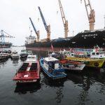 Il porto di Valparaiso, vero motore economico della città cilena