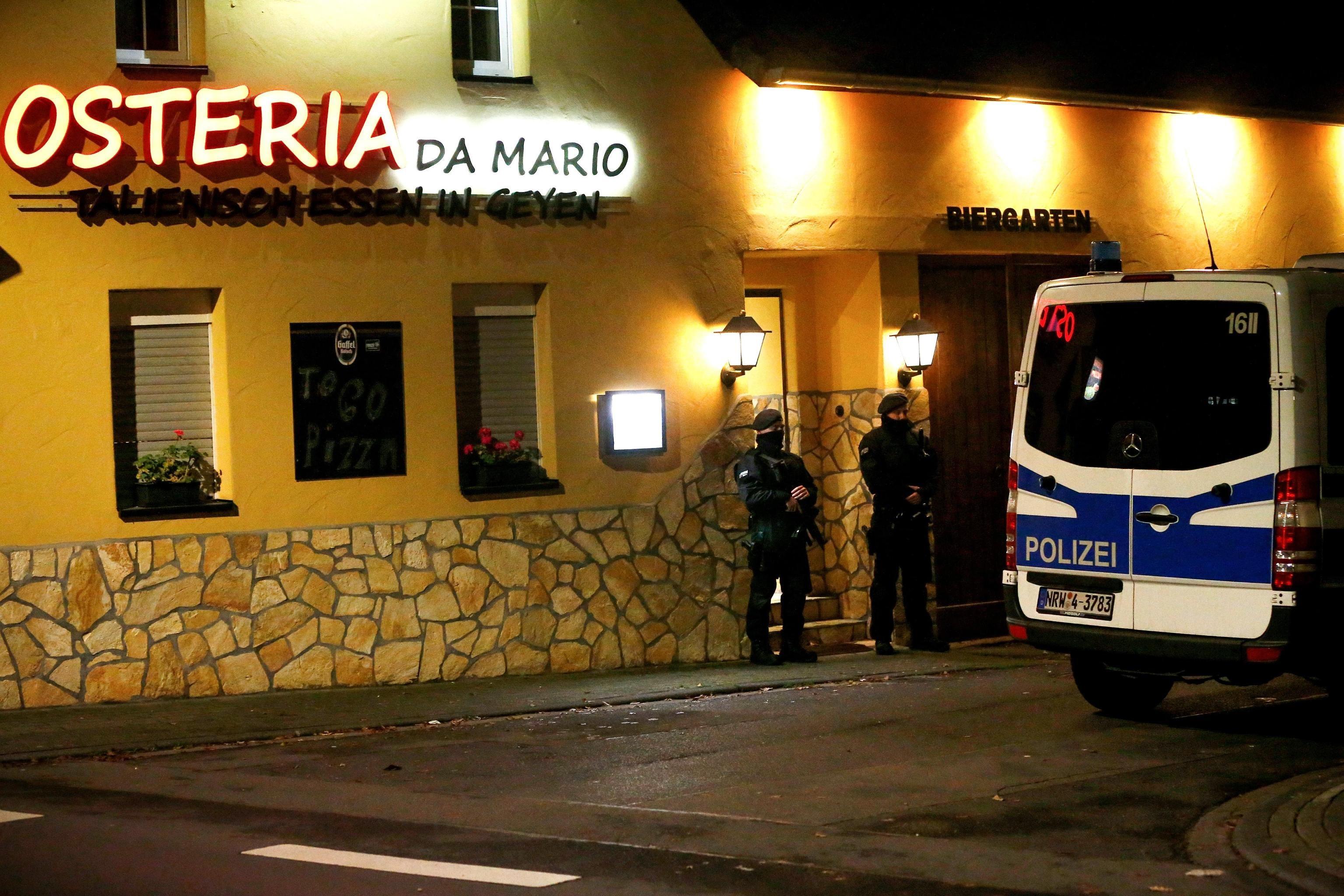 """Il ristorante italiano: """"Osteria da Mario"""" a Pulheim dove si è svolta l'operazione"""