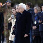 Il Presidente della Repubblica Sergio Mattarella ha accolto la salma