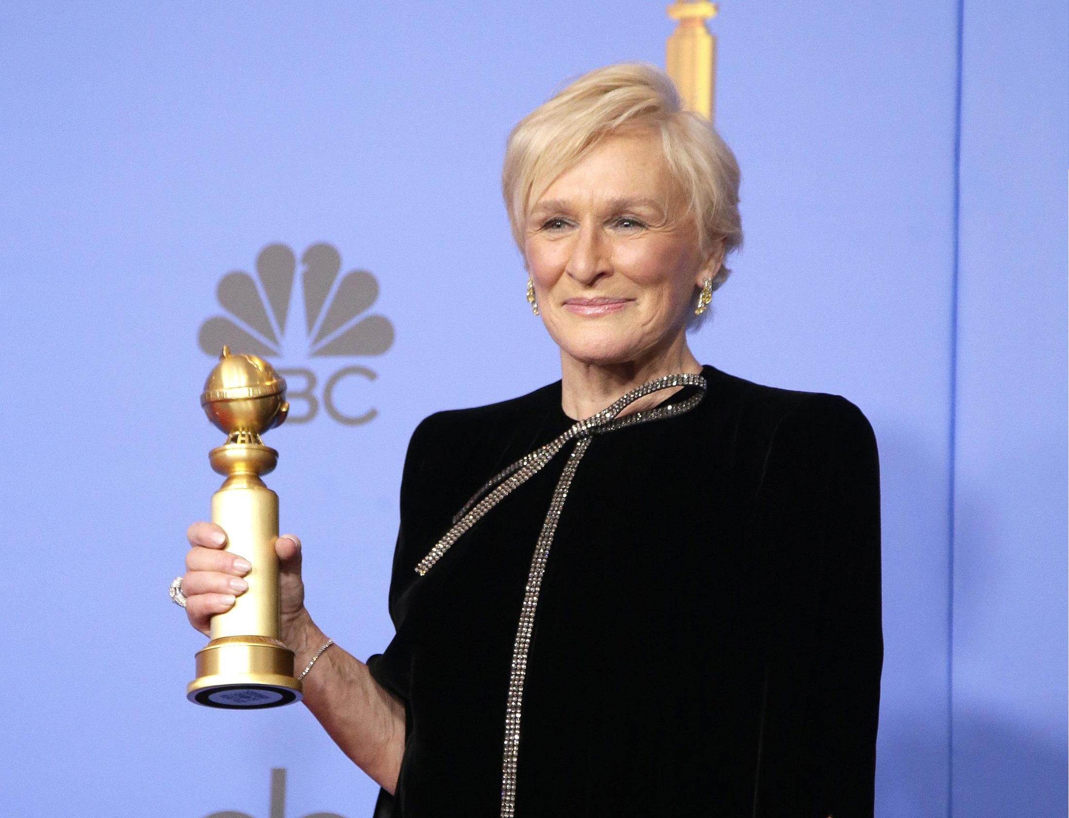 Glenn Close ha vinto il premio per miglior attrice drammatica grazie alla sua interpretazione in 'The Wife'