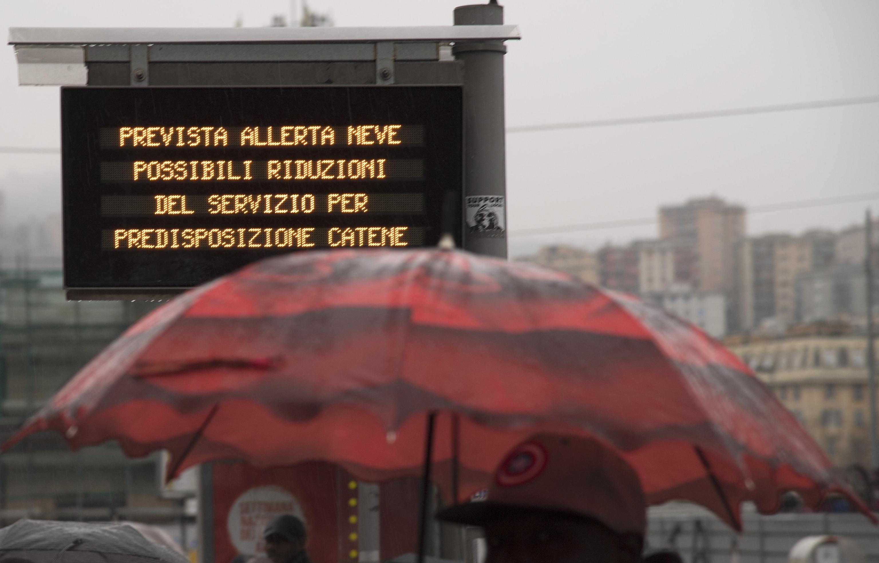 Oggi, il maltempo ha raggiunto Genova. È allerta gialla per neve