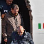 L'arrivo in Italia del latitante e pluriomicida Cesare Battisti, catturato sabato alle 17 (ora locale) in Bolivia, a Santa Cruz.