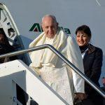 Papa Francesco in partenza da Roma verso Panama, dove si svolgerà la XXXIV Giornata Mondiale della Gioventù