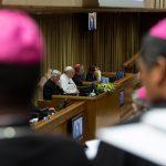 I lavori procedono sotto l'attenta presidenza del Papa