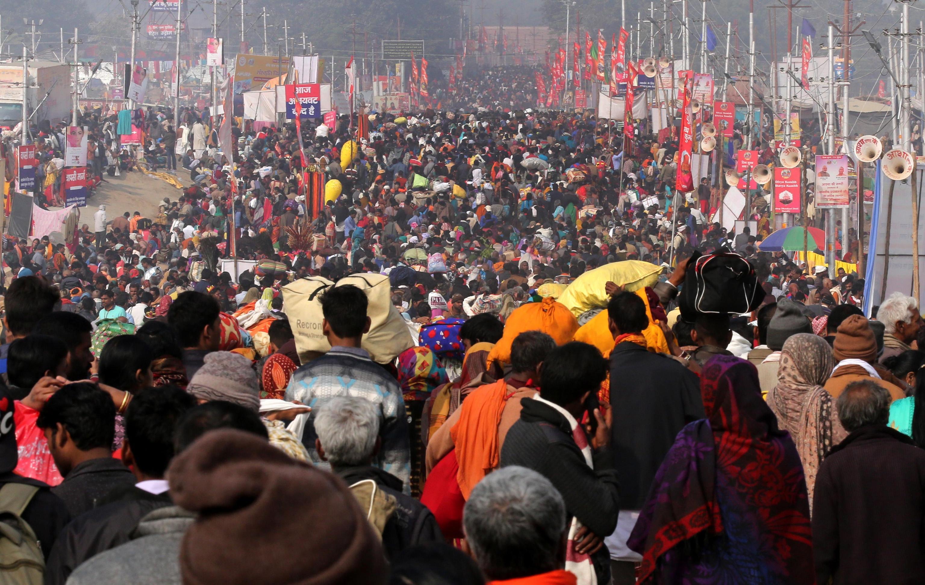 I pellegrini del Kumbh Mela