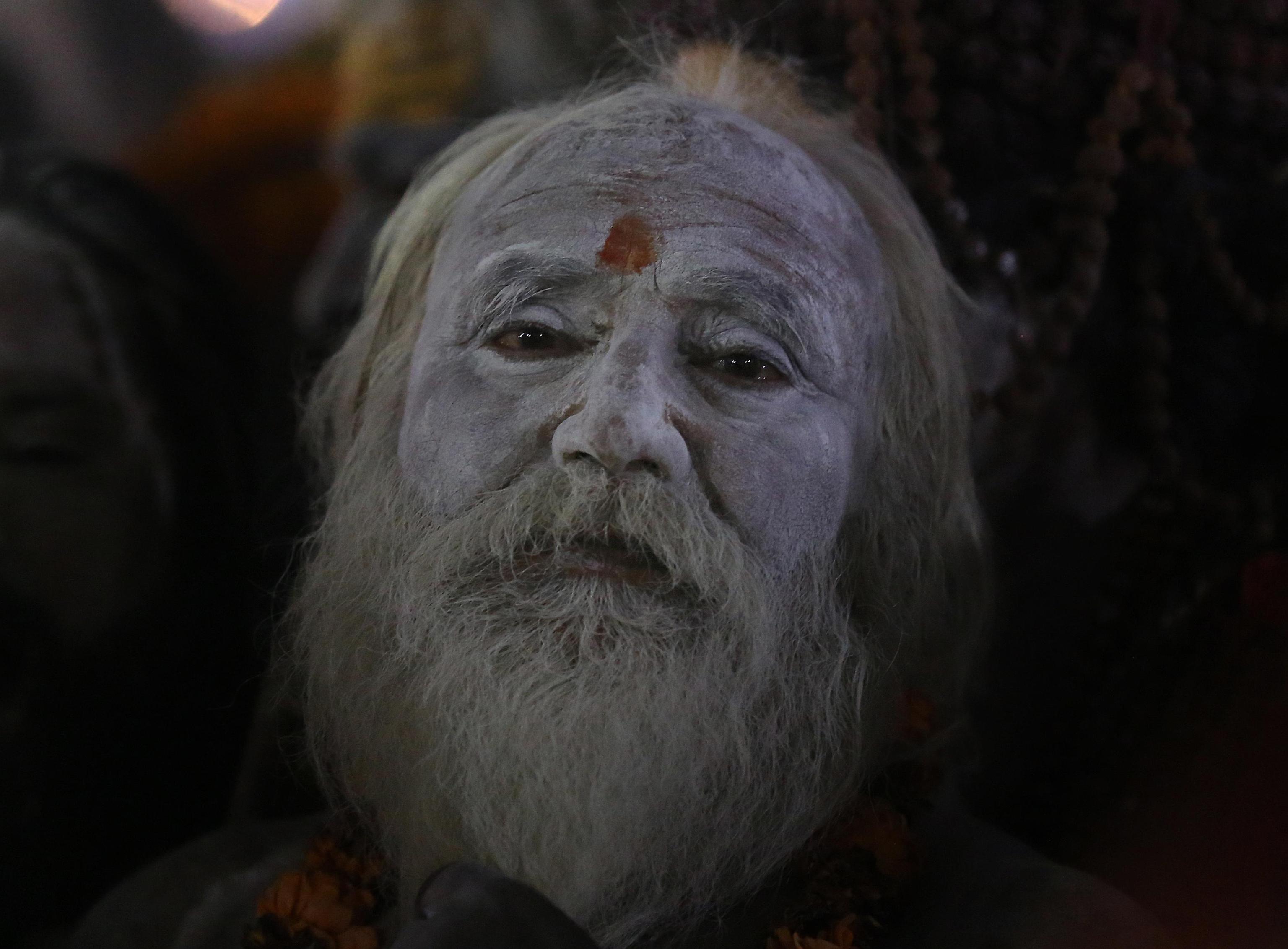 Un Naga Sadhu in processione