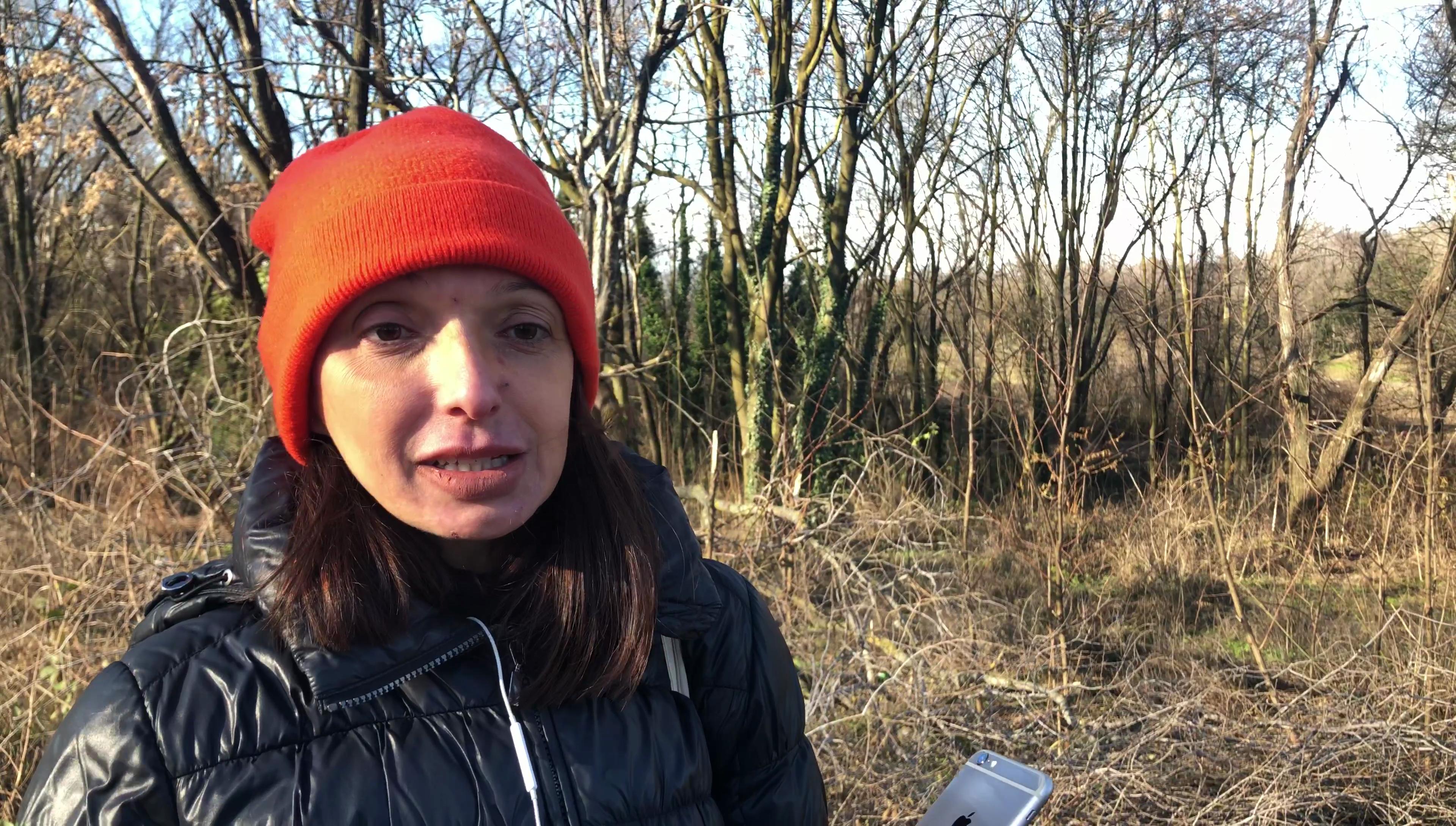 Annarita Briganti ha organizzato l'incontro con giornalisti e scrittori alla vigilia di Natale nel Boschetto