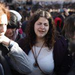 """Una delle donne membro del gruppo """"Women of the Wall"""", durante la protesta in corso oggi a Gerusalemme"""