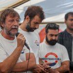 Luca Casarini, ex leader no global, era a bordo della Mare Jonio per coordinare la missione. Qui in una conferenza stampa di presentazione delle attività della Ong Mediterranea Saving Humans