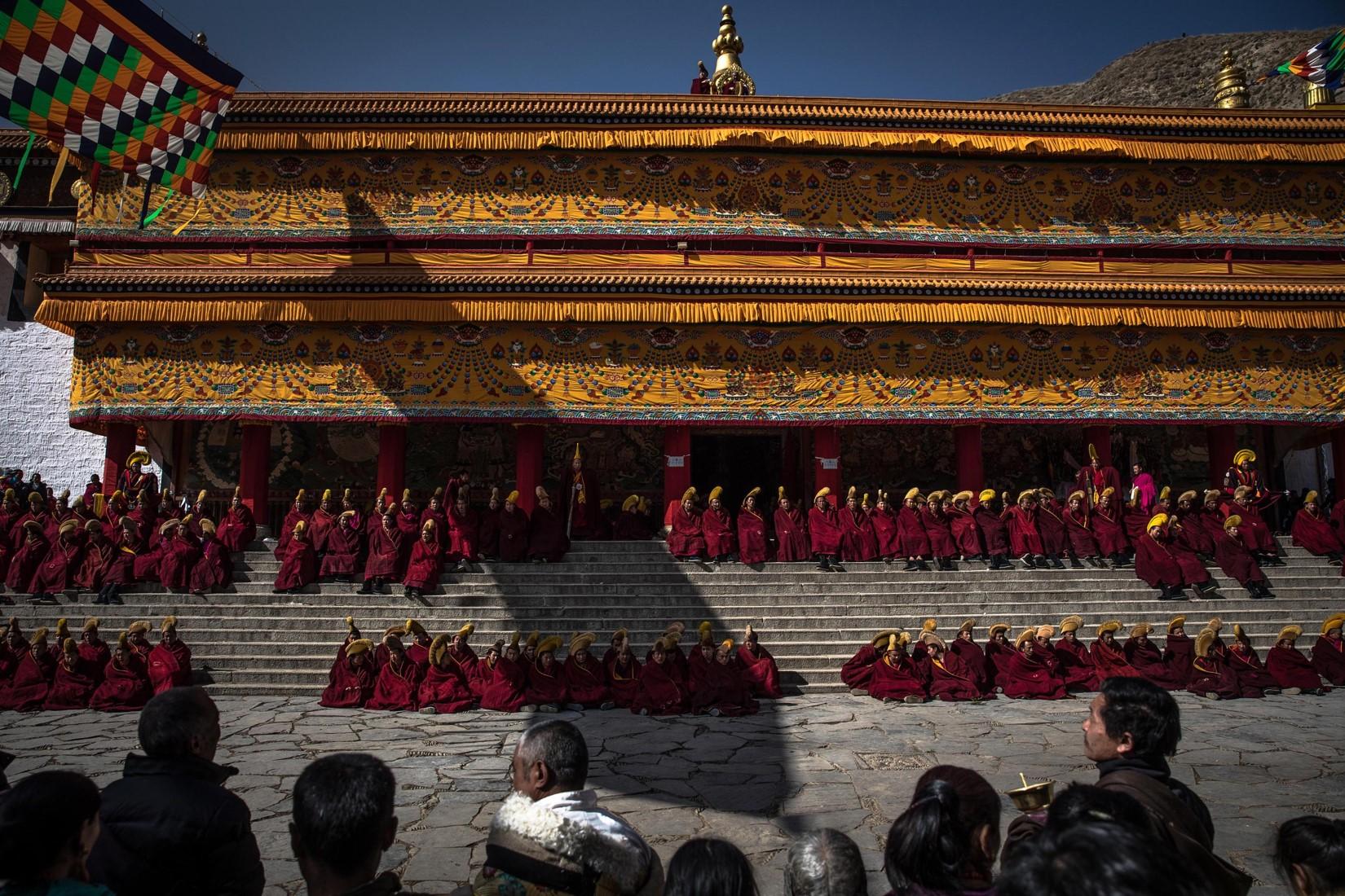 Il monastero di Labrang è pronto per i festeggiamenti del Monlam