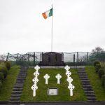 La vista dell'Hunger Strike Memorial che ricorda i repubblicani che morirono tra il 1917 e il 1981