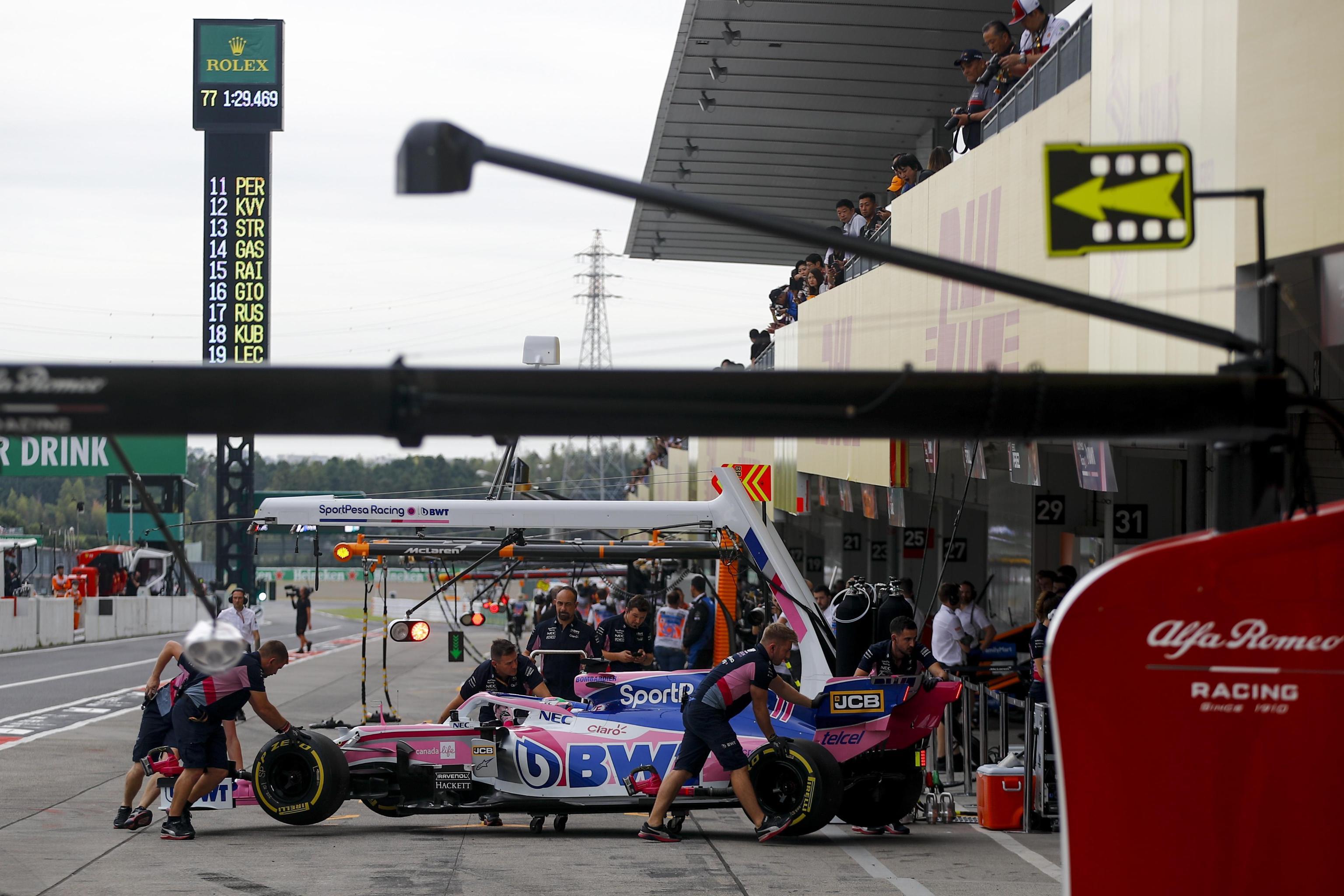 La Racing Point del messicano Sergio Perez