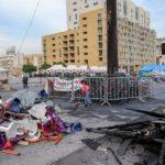 I danni della manifestazione avvenuta in piazza dei Martiri a Beirut
