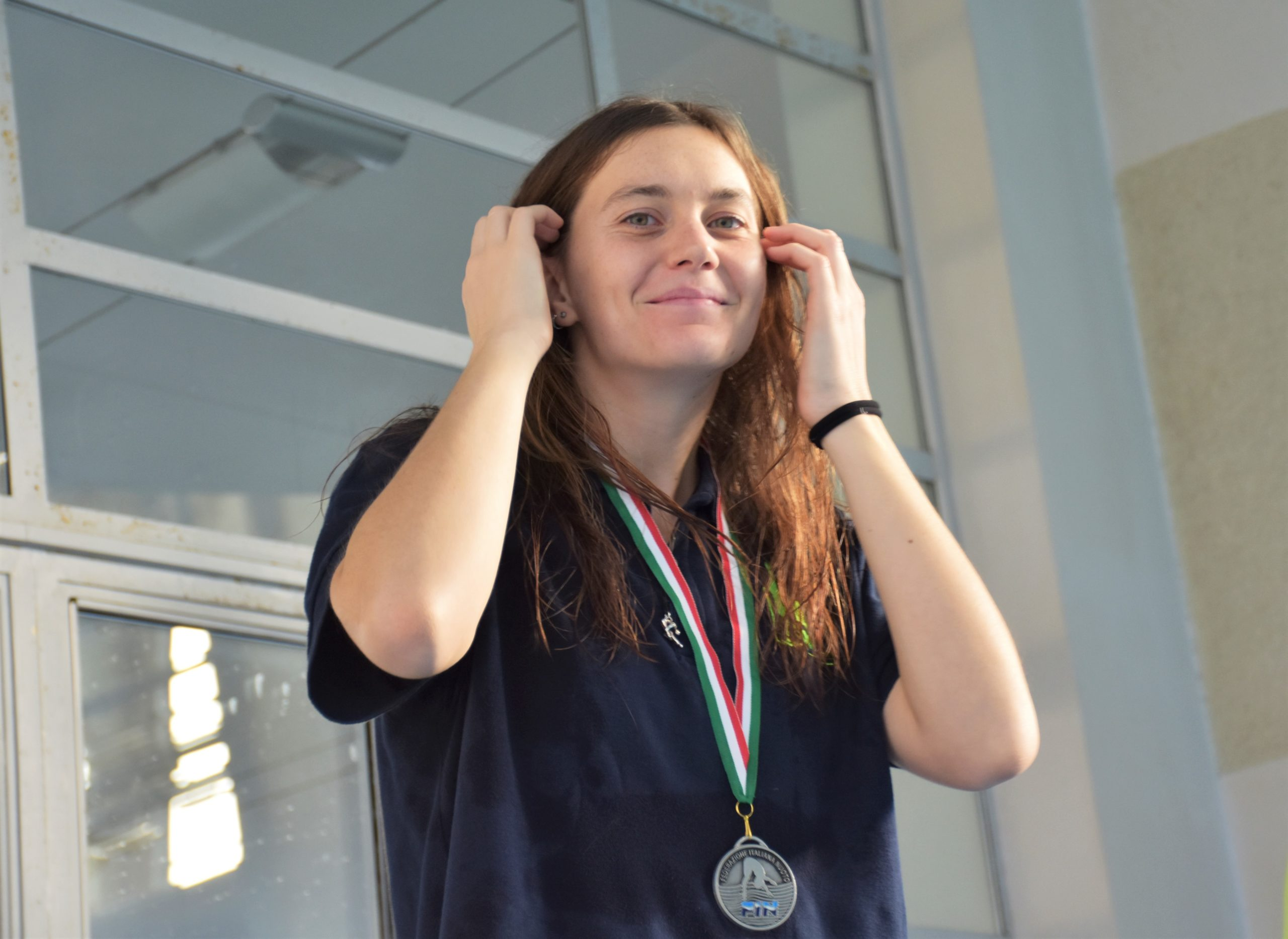 Carolina Sbarigia (MR Sport) ha vinto la medaglia d'argento nella gara da un metro