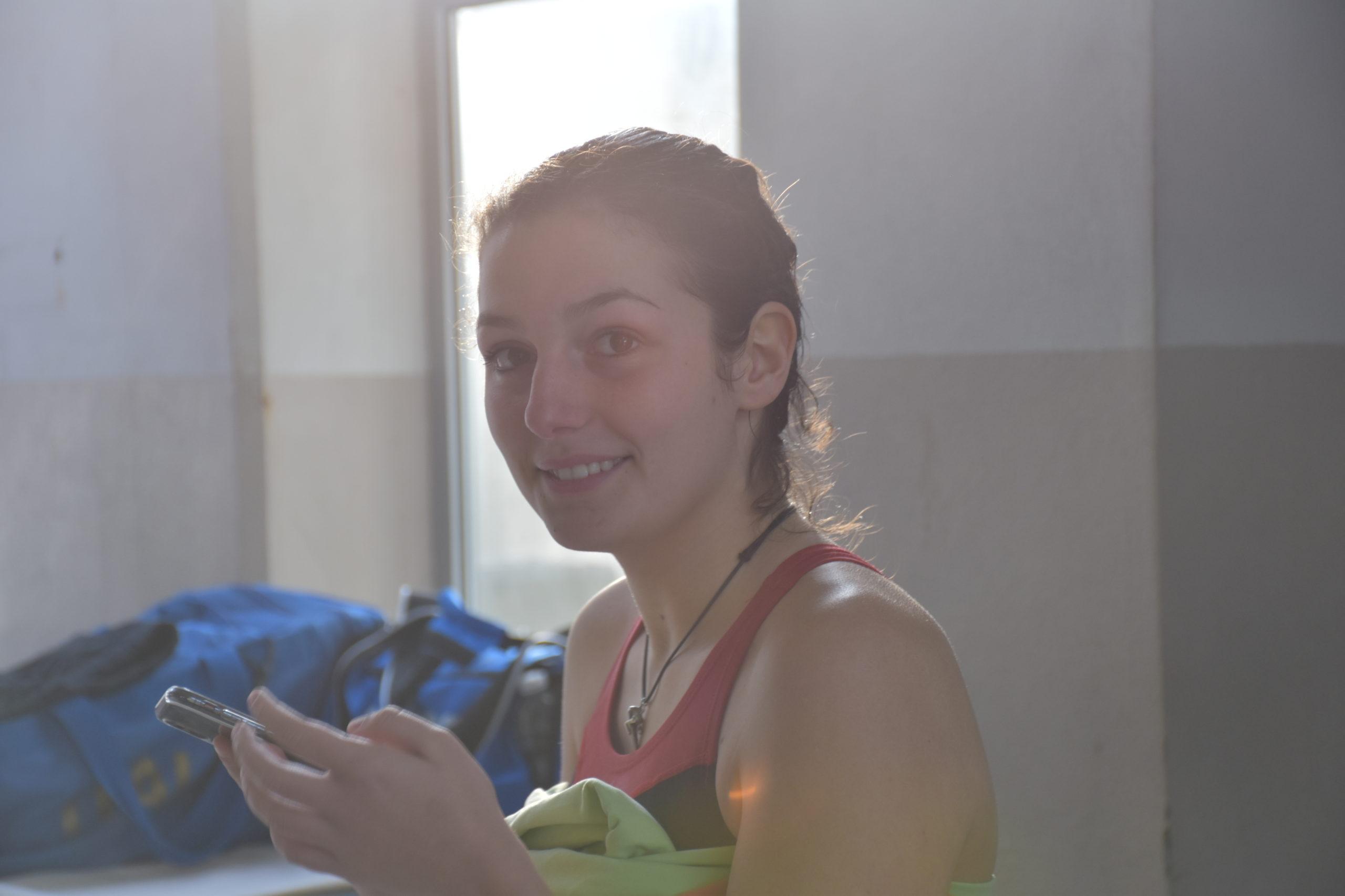 Rebecca Fiorelli (MR Sport) dopo la gara da un metro