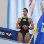 Gaia Amato in allenamento dalla piattaforma di 5 metri