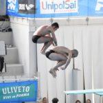Valerio Trinci e Patrizio Caruso (MR Sport) durante la gara sincro da 3 metri